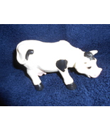 """HAND CAST AND PAINTED COW FIGURINE """"A COW LOVER'S DELIGHT"""" NEW IN BOX D2... - $16.95"""