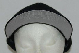 Flexfit Black 6277 Twill Hat XL XXL Permacurv Visor With Silver Undervisor image 2