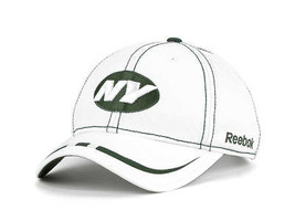 New York Jets Reebok Nfl Onfield Alternate Logo Osfm Adjustable Coaches Cap - $17.09