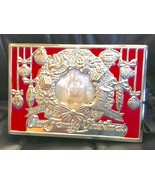 Lenox Photo Album Our Family Christmas Memories Holiday Silverplate Red - $23.33
