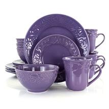 Elama Lilac Fields 16-Piece Dinnerware Set - $62.41