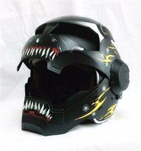 Masei 610 Meikai Hades Matt Black Yellow Motorcycle Helmet image 4