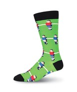 Foosball K Bell Crew Socks Red New Men's Size 10-13 Table Top Game Fashion  - $11.95