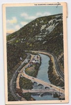 Cumberland, Maryland, MD, The Narrows 1945 Vintage Postcard - $4.95