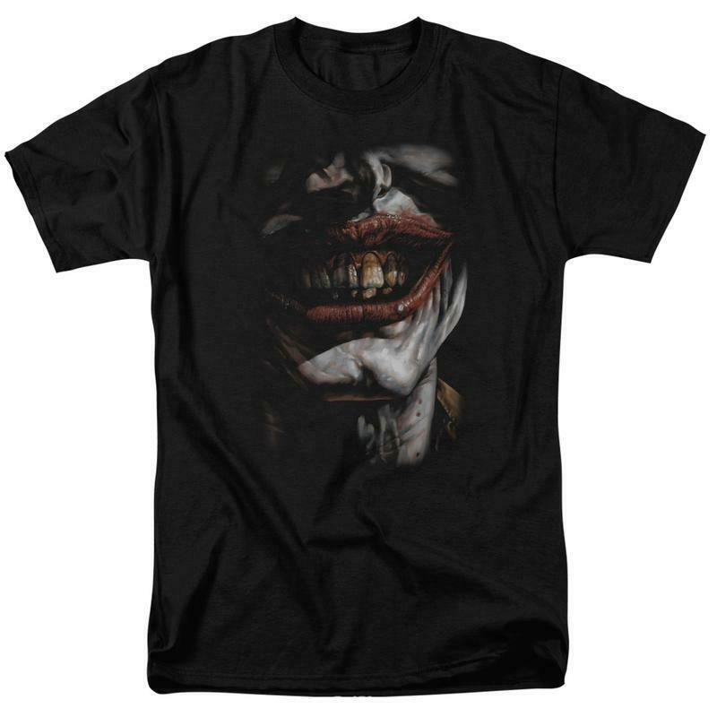 Batman Smile of Evil Joker DC Comics graphic adult t-shirt BM2014