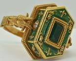 Georgian Occultists Baphomet Memento Mori Gold,Enamel&Emerald Poison ring 1743