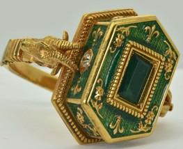 Georgian Occultists Baphomet Memento Mori Gold,Enamel&Emerald Poison rin... - $50,000.00