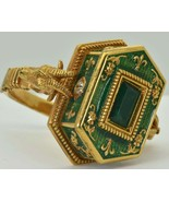 Georgian Occultists Baphomet Memento Mori Gold,Enamel&Emerald Poison ring 1743 - $50,000.00