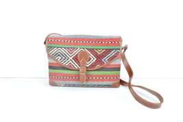 Postman's bag,kilim bag,rug bags,Old handbag ,kilim & bag ,wool Leather ... - $195.00