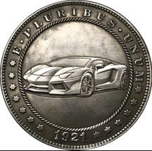New Hobo Nickel 1921 USA Morgan Dollar Car Viper Porshe Lamborghini Cast... - $11.99