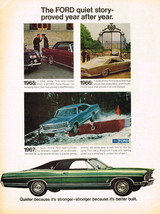 Vintage 1967 Magazine Ad Ford Quiet Story Proved Year After Year Better Built - $5.93