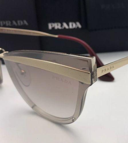 c376a7a8d3e0 New PRADA Sunglasses CATWALK SPR 12U KNG-4O0 Beige Marrone Chiaro Gold w   Brown