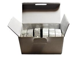 6 Rolls of Silver Washi Tape by Crafty Rolls image 2