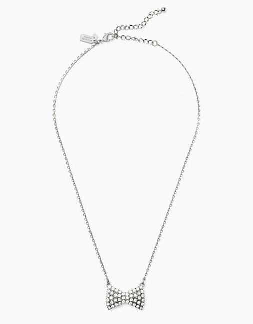 Primary image for Kate Spade New York Necklace Sparkling Pave Bow NEW
