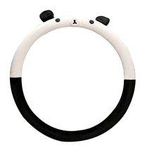 Cartoon Winter Short Plush Car Sets Car Steering Wheel Cover, Panda