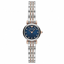 New Emporio Armani Blue Dial Two Tone Stainless Steel Watch AR11222 - $136.50