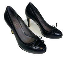 Cole Haan Womens Heels 7 Violet Air Lace Detail Black Leather Pony Hair Stiletto - $24.85