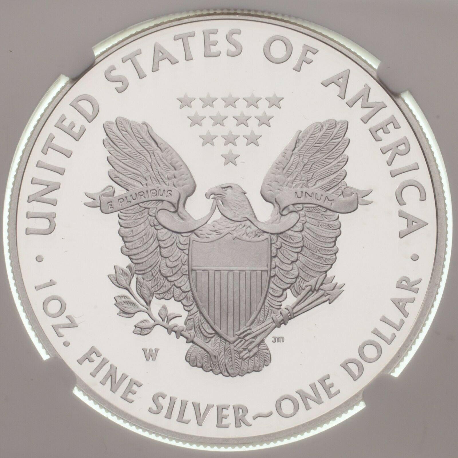 2013-W Silber American Eagle Beweis Ausgewählten von NGC As PF70 Ultra Cameo image 4