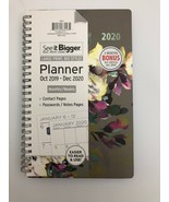 See it Bigger 2020 Monthly Weekly Planner Agenda Grey Floral 7 X 8 - $23.76