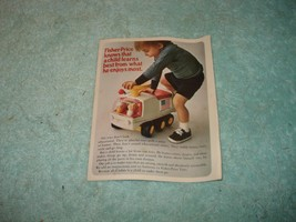 Vintage 1971 FISHER-PRICE TOYS Sm Product Booklet - Package Insert - Rare - $9.99