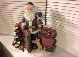 "17"" Resin Santa Clause with Lantern Figure - $45.64"