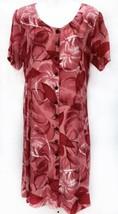 Hilo Hattie Sz Medium Hawaiian Original S/S Rayon Floral Womens Dress W/Tie Back - $21.85