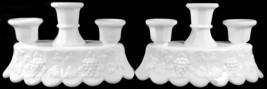 "Westmoreland Milk Glass Paneled Grape Pattern 8""l Candlestick Candelabra... - $299.99"