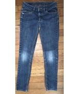 epic threads medium wash skinny straight blue jeans stretch denim pants 8 - $4.95