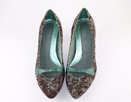Heel 8 Kitten Print Brown 1 2 Dark Floral Seychelles Green Mint Size fxFqz6