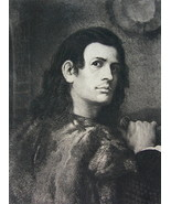 ORIGINAL ETCHING PRINT - Portrait of Young Man by Giorgione - $29.70