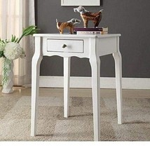 Modern Country Style Wood Accent Nightstand End Sofa Side Table Rectangl... - $88.17