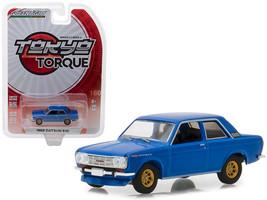 1968 Datsun 510 Street Racer Blue with Gold Wheels Tokyo Torque Series 2... - $13.63