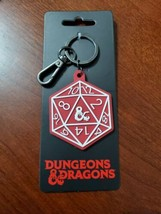 Dungeons & Dragons 20-Sided Dice Keychain by Bioworld New - $14.80