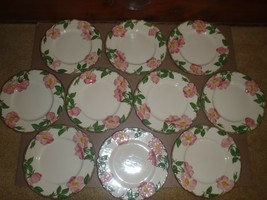 "Set of 10 Vintage Franciscan Desert Rose  8"" Salad Dessert Plates Califo... - $46.74"