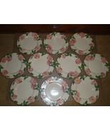 """Set of 10 Vintage Franciscan Desert Rose  8"""" Salad Dessert Plates Califo... - $46.74"""