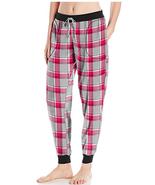 Peanuts Snoopy Womens Red Plaid Microfleece Jogger Lounge Pants PJs NWT - $49.99