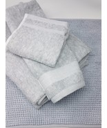 Made by Design 5pcs Bath Towels and Rug Set, Color: Light Grey - $65.99