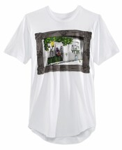 American Rag Mens Jungle Print Asymmetrical Hem T-Shirt Medium M White $30 - $12.50
