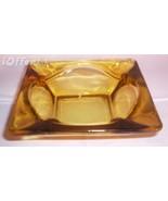 ANCHOR HOCKING AMBER GLASS STACKING ASHTRAY - $12.45
