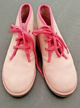 Lands End Girls boots pink suede size 5 - $30.39