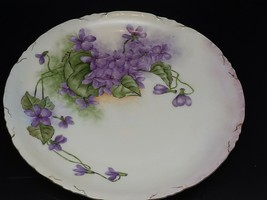Rosenthal Versailles hand painted signed violets on white very good cond... - $35.00