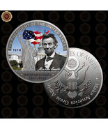 WR 16TH US President Abraham Lincoln 1861-65 Color Ancient Coins Value B... - $7.41