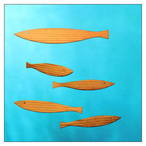 Floating Fish Mobile -- with wood fish, by Christian Flensted & Flensted... - $119.75