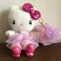 Hello Kitty USJ Limited Plush Doll Mascot with Charm Sequins 2013 Sanrio... - $64.67