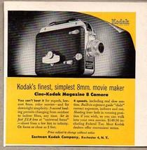 1954 Print Ad Cine-Kodak Magazine 8mm Movie Camera's Rochester,NY - $10.82
