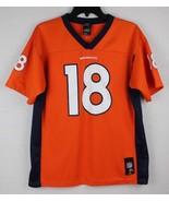 Denver Broncos youth kids 18 Peyton Manning orange jersey size XL - $17.51