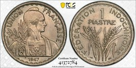 1947 French Indo China 1 Piastre PCGS MS64 Lot#G808 Choice UNC! - $116.88