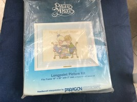 "Needlecraft Precious Moments HOME SWEET HOME Longpoint 16""X20"" #1098 - $9.89"