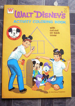 Walt Disney Activity Coloring Book Mickey Mouse Club Whitman 1966 - $16.99