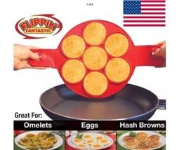 Pancake Nonstick Cooking Tool Egg Ring Maker Cheese Egg Cooker Pan Flip ... - $8.51 CAD